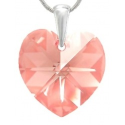 Prívesok Heart Light Rose Swarovski Elements sw094